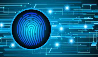 fond de cyber sécurité réseau empreinte digitale