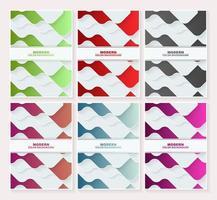ensemble de conception de couvertures abstraites.