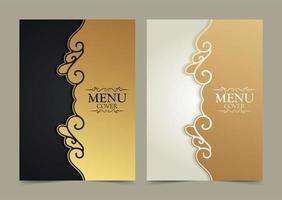 conception élégante de couverture de menu de luxe vecteur