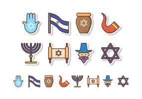Ensemble d'icônes israélien gratuit vecteur