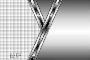 élégant fond gris métallique avec revêtement blanc