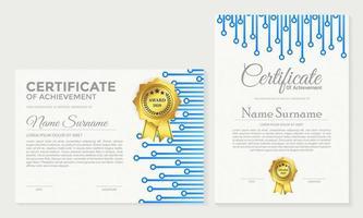 ensemble de certificats d'adhésion.