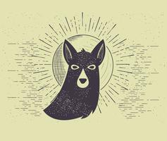 Illusion libre de chien de vecteur
