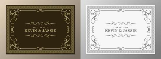 cadre de mariage vintage avec ornements