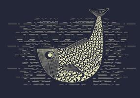 Illusion gratuite de poissons vectoriels vecteur