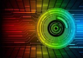oeil cyber circuit futur technologie concept fond