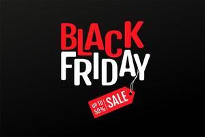 texte du vendredi noir et étiquettes de prix de réduction de produit vecteur