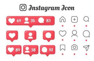 icônes de notification et de commentaire des abonnés
