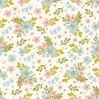 motif floral sans soudure dessiné à la main