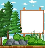 cadre en bois vierge dans le parc naturel vecteur