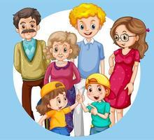 groupe de membres de la famille vecteur