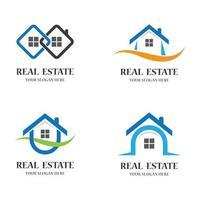ensemble d'images de logo immobilier vecteur