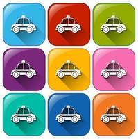 boutons avec des voitures de police