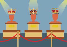 Illustration anglaise gratuite de la couronne vecteur