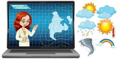Anchorman rapportant les prévisions météorologiques