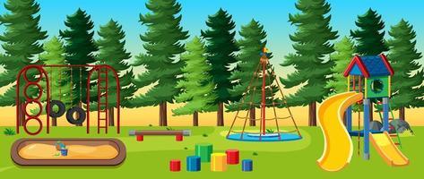 aire de jeux pour enfants dans le parc vecteur