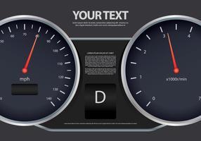 Modèle d'illustration de vitesse de changement de vitesses