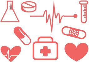 Vecteurs médicaux simples gratuits vecteur