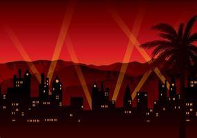 Hollywood fond rouge fond vecteur gratuit