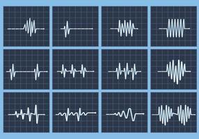 Vitesse de la fréquence cardiaque vectorielle flatline vecteur