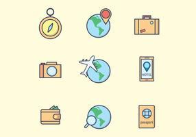 Icônes de voyage gratuites vecteur