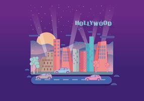 Vecteur de paysage léger de Hollywood
