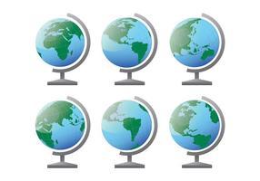 Vecteur d'icônes globus gratuit