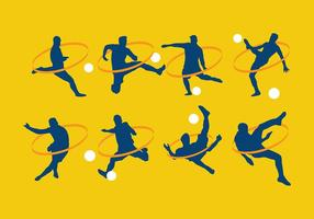 Vecteur gratuit silhouette kickball