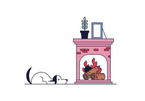 Vecteur de feu de cheminée gratuit