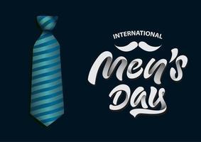 affiche de promotion de la vente de la journée des hommes vecteur