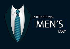 bannière de la journée des hommes avec homme en cravate vecteur
