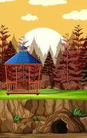construction de parc animalier en style cartoon