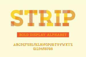 Alphabet de rayures à empattement gras vecteur