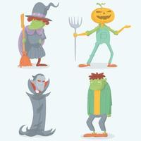 collection de personnages halloween