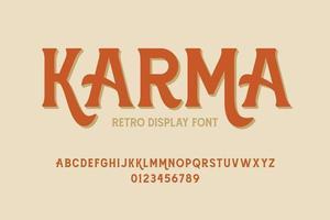 alphabet décoratif d'affichage rétro vecteur