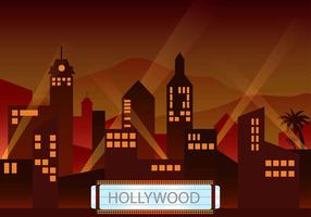 Vecteur de l'environnement du crépuscule lumière de Hollywood