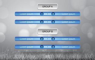 Calendrier des matchs pour la coupe de football de football sur bokeh gris vecteur