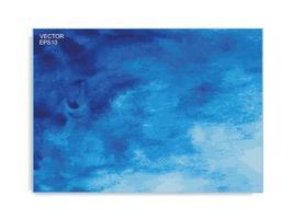 fond de pinceau aquarelle bleu abstrait vecteur