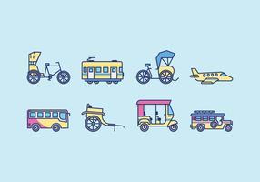 Vecteur de transport public gratuit