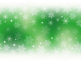 bannière verte dégradée de flocons de neige festifs