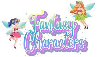 personnages fantastiques de fées vecteur