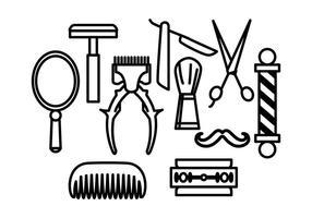 Vecteurs de coiffeurs gratuits vecteur