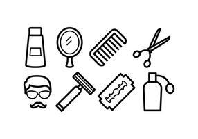 Icônes gratuites de barber vecteur