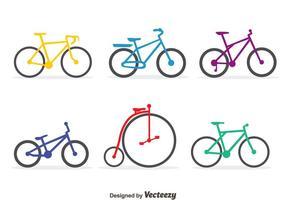Ensemble de vecteur de vélo coloré
