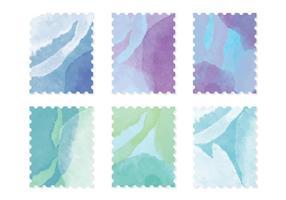 Cartes d'aquarelle vectorielle vecteur