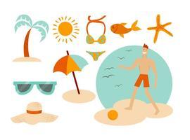 Vecteurs d'été de plage gratuits vecteur