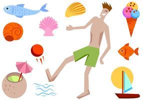 Summer beach gratuit 2 vecteurs