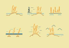 Vecteur libre d'avoine de mer