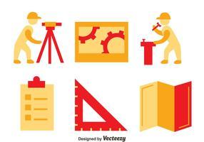 Ensemble vectoriel d'icônes d'arpenteur