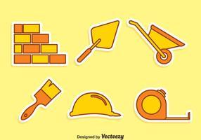 Vecteur d'icônes d'outils de construction à la maison